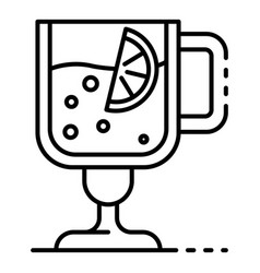 Hot mulled wine icon outline style vector