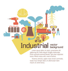 Industrial environmental template vector