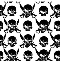 Jolly roger white seamless background vector