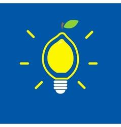 Lemon bulb vector image
