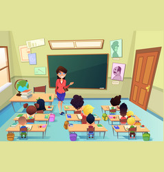 lesson in elementary school cartoon vector image