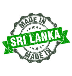 Made in sri lanka round seal vector