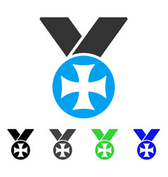 Maltese medal flat icon vector