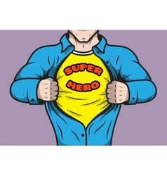 Masked comic book superhero vector image