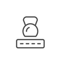 Mattress firmness line icon vector