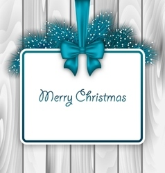 Merry Christmas Elegant Card vector