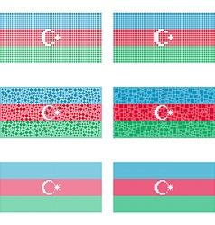 Mosaic azerbaijan set vector