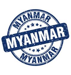 Myanmar stamp vector