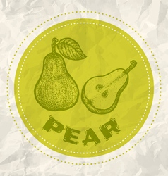 pear vintage paper vector image