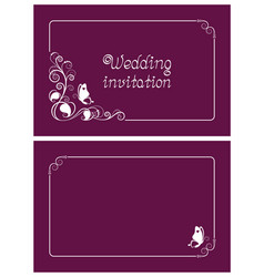pink wedding invitation and save the date cards vector image