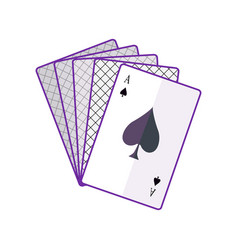 Playing cards in flat design vector
