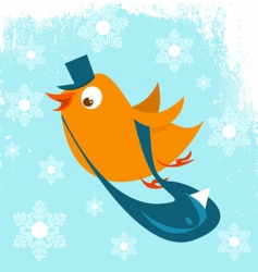 postman bird vector image