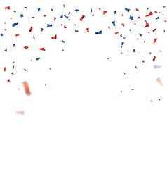 Red and blue confetti template for 4th july vector