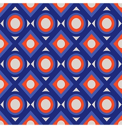 Seamless pattern with circles and rhombs vector image