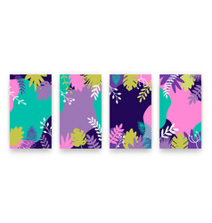 set modern abstract summer backgrounds vector image