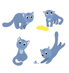 Set of happy cats 2 vector image