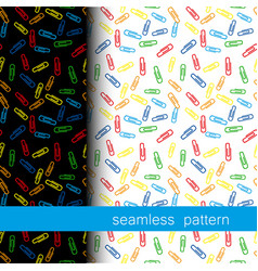 Set of seamless pattern with clerical clip vector