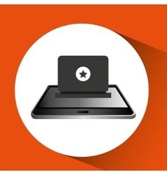 Smartphone black lying laptop icon design vector