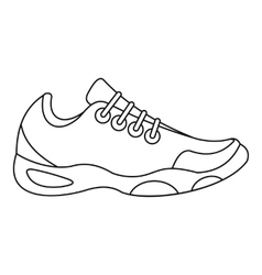 Sneakers for tennis icon outline style vector