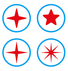 Star rounded icons vector