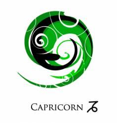 star sign zodiac capricorn vector image
