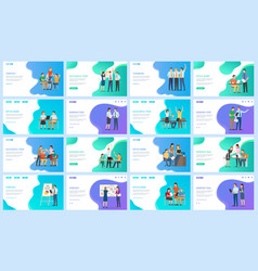successful team and startup people at work set vector image