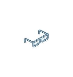 sun glasses isometric icon 3d line art technical vector image