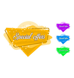 tag spesial offers vector image