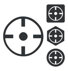 Target icon set monochrome vector image