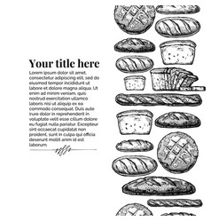 Template with bakery products vector