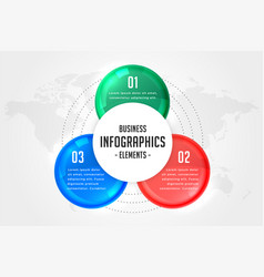 three steps infographics presentation template vector image