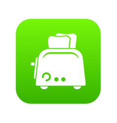 toaster icon green vector image