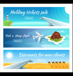 travel advertisement ticket sale vector image