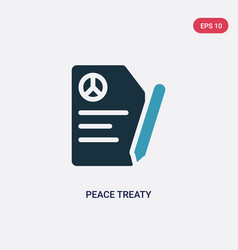 Two color peace treaty icon from political vector
