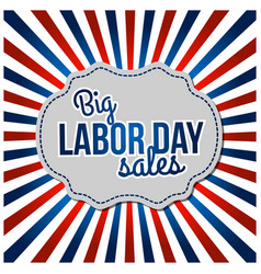 usa labor day horizon background vector image