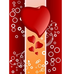 Valentine's greeting card vector image