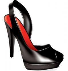 vector high heel shoe vector image