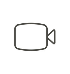 video camera icon line live stream symbol vector image