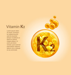 vitamin k2 baner with images golden balls vector image