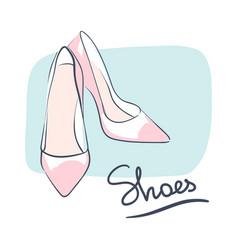 Wedding celebration attribute beautiful shoes vector