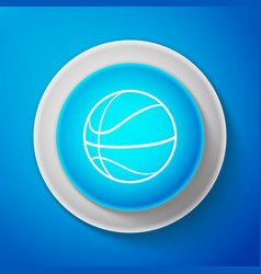 white basketball ball icon sport symbol vector image