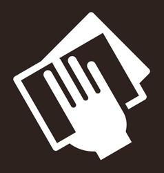 wipe dust icon vector image