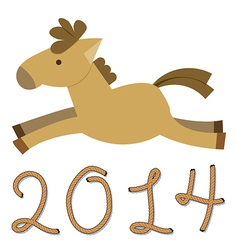 Year of The Horse vector image