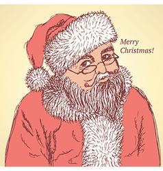 Sketch Santa Claus in vintage style vector image vector image