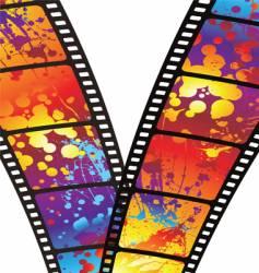 rainbow zip film vector image vector image