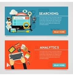 Searching and Analytics Concept vector image vector image