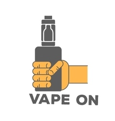 logo electronic cigarette in hand vector image vector image