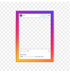 modern social network photo frame vector image