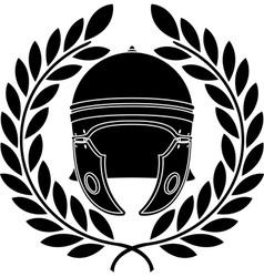 roman helmet stencil second variant vector image vector image