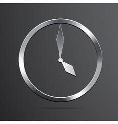 clock icon background vector image